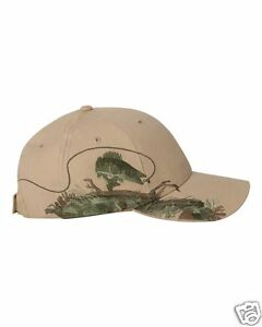 DRI DUCK Wildlife Series Cap Khaki Walleye Fish Baseball Hat 3269 NEW