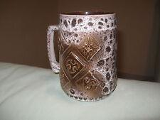 Vintage Israel Pal Ceramic Glazed Embossed Unique Beer Stein Mug Cup Judaica 555