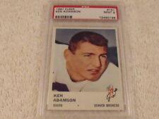 1961 Fleer #151 KEN ADAMSON Denver Broncos - PSA 9 MINT
