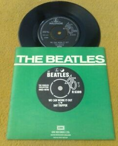 "BEATLES "" WE CAN WORK IT OUT /  DAY TRIPPER ""SUPERB NMINT UK 1976 PRESS IN P/S"