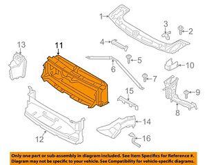 BMW OEM 12-16 328i Radiator-Upper Duct 51747255413