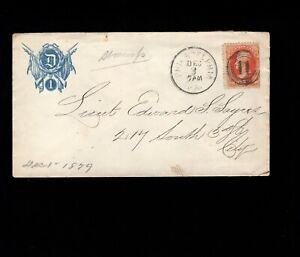 Civil War D 1 GAR Group Philadelphia 1879 Bank Note Era Fancy Target 11 Cover 1g