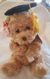 Ty Beanie Baby BB 2.0 ~ SCHOLARS the Graduation Bear (17 cm) BNWT