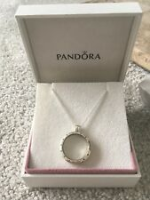 Authentic Pandora Silver Large Floating Locket Glass Necklace 590529-75 Boxed