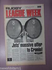 #T107. RUGBY LEAGUE WEEK NEWSPAPER 20/8 1977,  ST. GEORGE & PARRAMATTA CENTRE