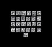 25 Pcs total 1.00Ct Princess Cut Loose Diamond Wholesale Lot G VS1 1.80 x 1.90mm