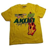 AKOO 100%authentic Mens S/S Tshirt Size large yellow logo