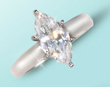 2 ct Marquise Ring Extra Brilliant C Z Imitation Moissanite simulant Ss Size 10
