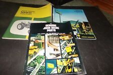 Lot 3 Vintage John Deere Manuals & Catalog 1020 Tractor Series