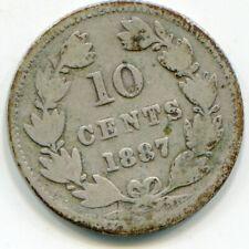 Nicaragua 10 Cents 1887   lotoct8603