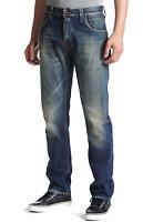Nudie Herren Regular Straight Fit Bio Denim Jeans Hose | Hank Rey Favorite Worn