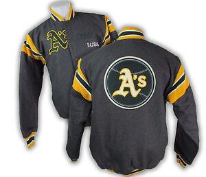 Oakland Athletics MLB Men's Reversible Wool Blend Victor Jacket