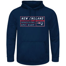 NEW ENGLAND PATRIOTS NAVY PULLOVER HOODIE MENS LARGE MAJESTIC TEAM APPAREL NEW!