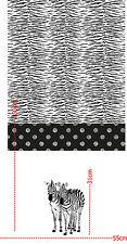 Baumwoll Jersey Zebra schwarz weiß Kinderstoff 0,55 Meter Rapport