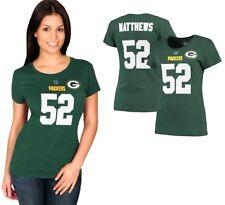 Women's Majestic NFL Green Bay Packers Clay Matthews #52 T-shirt Size Plus 3x