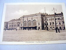 LOVELY OLD PPC: STRASBOURG~LA GARE CENTRALE~ANIMATED~CENTRAL STATION