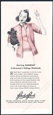 1939 Skye Terrier and woman art Peck & Peck Shetland sweater vintage print ad