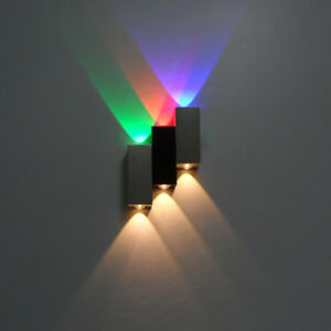 Up/Down 6W LED Wall Sconce Light Dimmable/N Lamp Fixture Indoor Lighting Bedroom