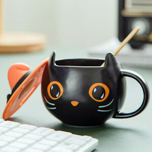 Halloween Witch Cat Cup Coffee Mug Cafe Tea Spooky Party Gift Decorations Topper