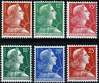FRANCE 1954 MARIANNE de MULLER YT n° 1009A à 1011C Neufs  ★★ luxe / MNH