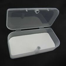 NEW Portable with Lid Clear Transparent Storage Collections Container Box Case E