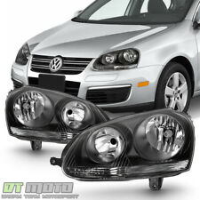 Black 2006 2007 2008 2009 Volkswagen Jetta Gti Mk5 Headlights 06-09 Headlamps (Fits: Volkswagen)