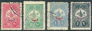 Turkey, 1908, definitives for domestic usage, cpl set