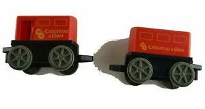Unbranded Train Car Cab Carts Red Black Chesapeak & Ohio Replacement Part Pieces