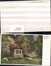 239400,Künstler AK Hugo Darnaut Graf Morzin-Denkmal in d. Walster b. Mariazell