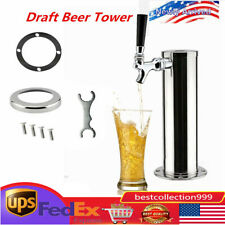 Single Tap Draft Beer Tower Homebrew Kegerator Chrome Faucets Home Party Top