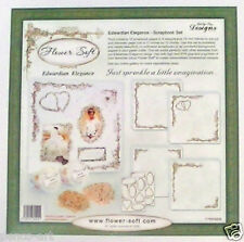 """Flowersoft elegancia eduardiana Scrapbook Set 12x12 """"Scrapbooking 12 Hojas Papeles"""