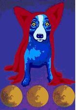 """Blue Dog George Rodrigue    """"Space Traveler""""      MAKE  OFFER    DSS"""