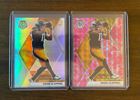 2020 Panini Mosic Chase Claypool Silver Prizm & Pink Camo True Rookie 2 Card Lot