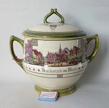 VB Villeroy & Boch Mettlach Bowle Topf Bowletopf Bacharach Rhein Jugendstil 1920