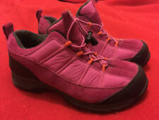 LAND'S END Hot Pink Fleece-Lined Genuine Suede All-Weather Sneakers - Size 7