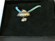 "Parasol Umbrella TG95 English Pewter On 18"" Blue Cord Necklace"