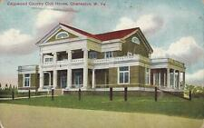 CHARLESTON WV ANTIQUE POST CARD *EDGEWOOD COUNTRY CLUB HOUSE *WEST VIRGINIA RARE