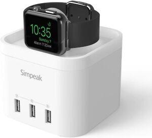 Simpeak Apple Watch 1,2,3,4,5,6 Multi USB Port Ladedock Wirless Charging