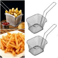 4 mini chip panier friteuse pommes de terre servant la nourriture panier cuisine