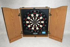 Halex ~ Electronic Dart Board ~ Oak Finish Cabinet