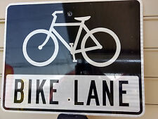 "Bike Lane Transportation Metal Street Road Sign 30"" x 24 1/4"" Bicycle"