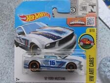 Hot Wheels 2016 #198/250 2007 Ford Mustang Plata HW Arte coches caso Q