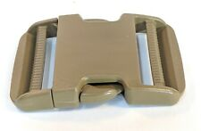 """(10 Pack) 2"""" inch(50mm) Quick Side Release Buckle - Curved -USA Made (Brown)"""