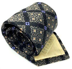 ROBERT TALBOTT ESTATE Tie Hand Sewn Finest Silk Foulard Geometric Plaid Necktie