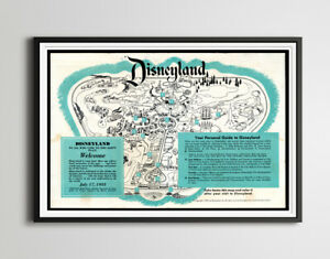 """Vintage 1955 Opening Year DISNEYLAND Park Brochure Poster! (up to 24"""" x 36"""")"""