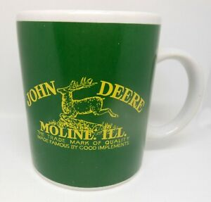 John Deere  Coffee Cup Mug Tractor Green Yellow Gibson Images 2 Sides Moline Ill