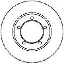 Bremsscheibe für Bremsanlage Vorderachse MAPCO 45534