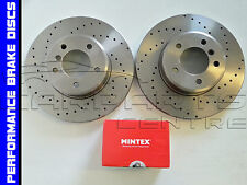 FOR BMW X5 E53 3.0D 4.4 FRONT PERFORMANCE DRILLED BRAKE DISC DISCS MINTEX PADS