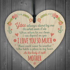 I Love You So Much Mother Daughter Wooden Hanging Heart Plaques Thank You Gifts