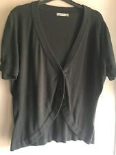 South Black Short Sleeved Shaped Front Cardigan Size 18/20